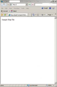 Sample Help File