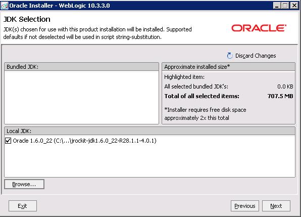 Installing ODI 11g, Weblogic, JDK on 64 Bit Windows - Sonra