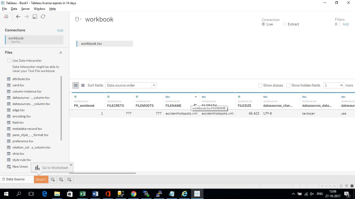 worksheet Xml Worksheet convert xml metadata of tableau workbooks twb to text sonra the worksheet is created as shown below