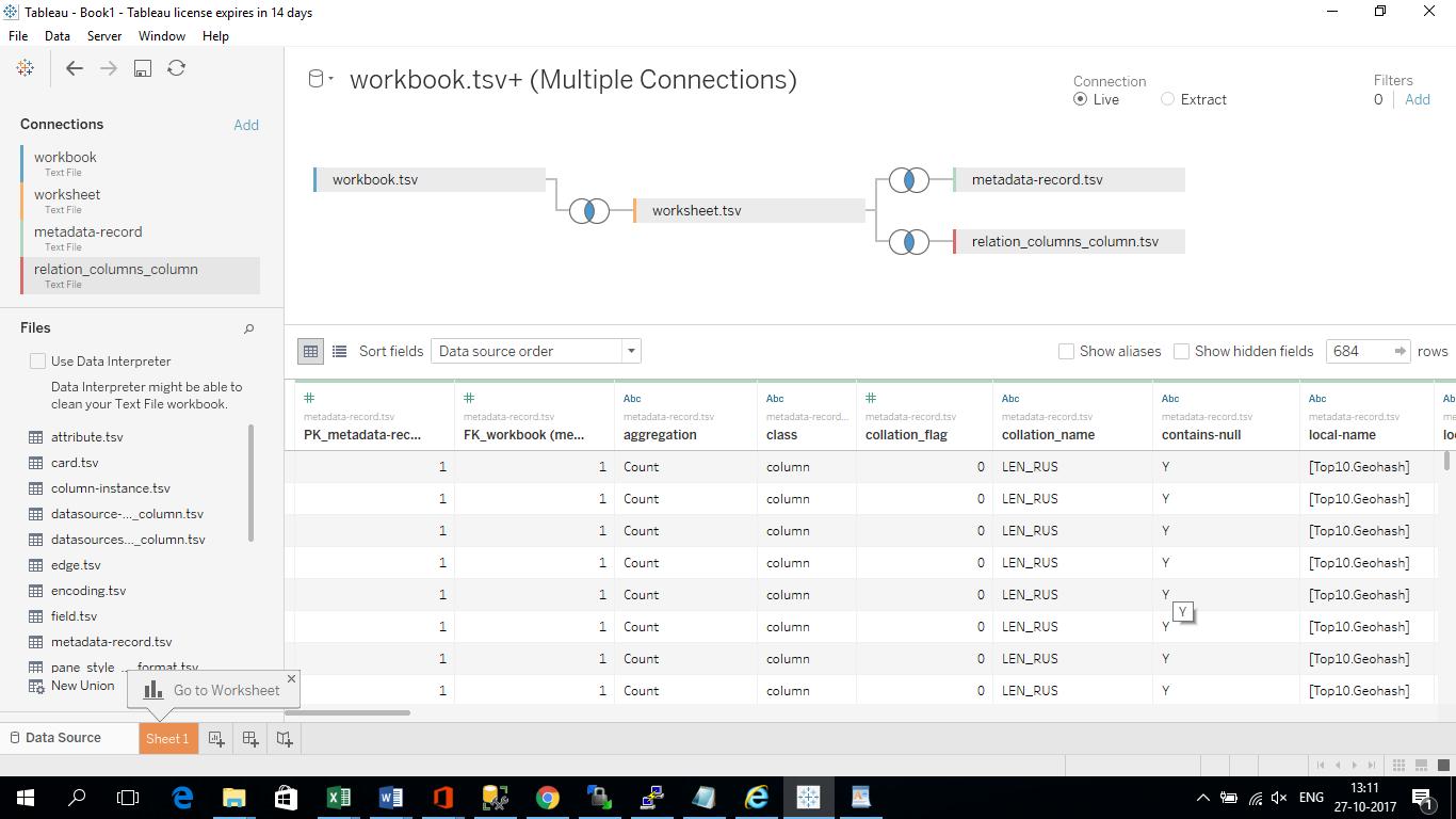 convert xml metadata of tableau workbooks twb to text sonra
