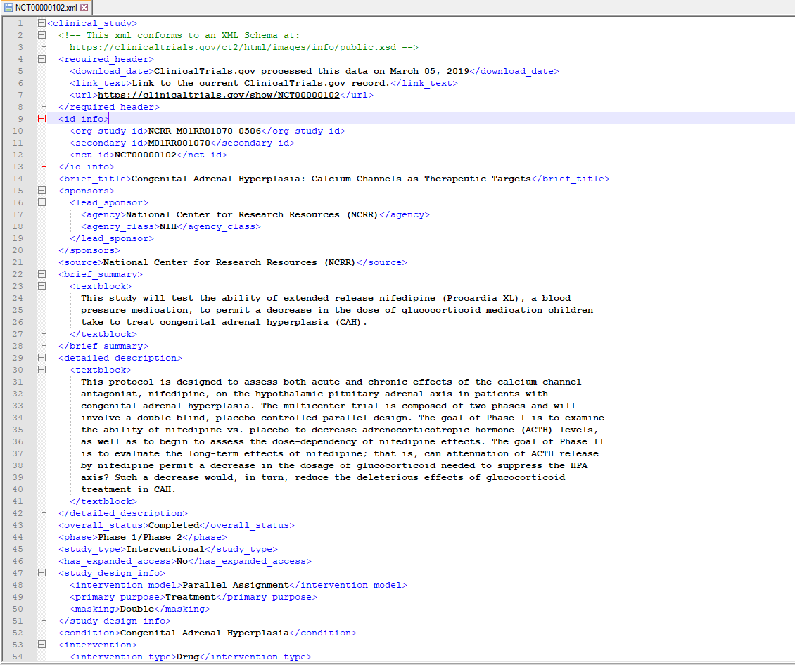 Converting clinical trials XML data to Snowflake and